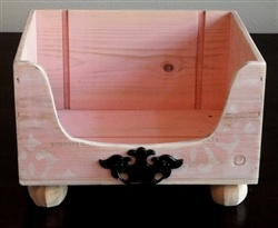 DIY wine crate toy box or a cute dog bed for a tiny dog