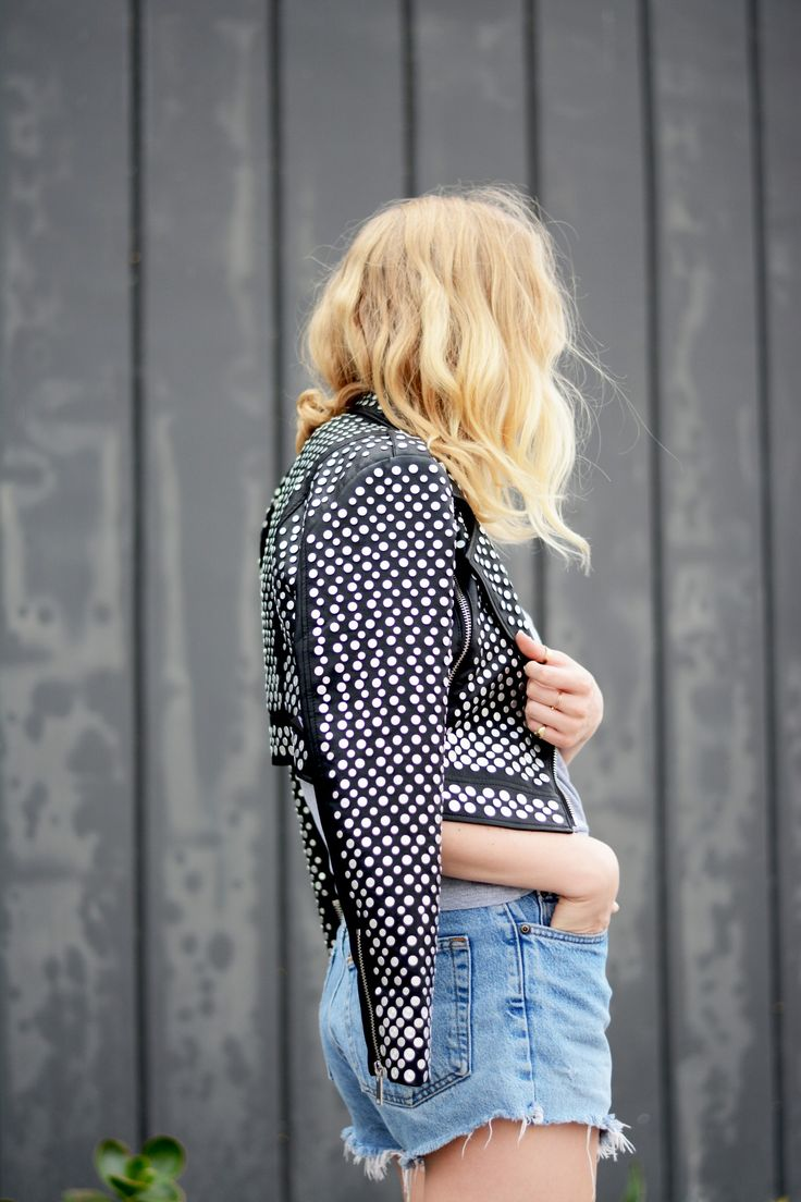 Need a look to last past midnight? Try this Studded Jacket.