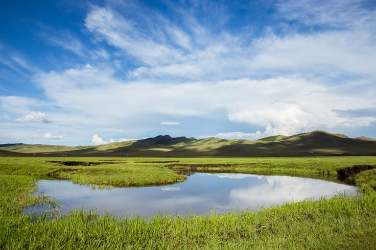 Mirrored reflections in the Mongolian wilderness. By Luke Barker at www.tronorphic.com