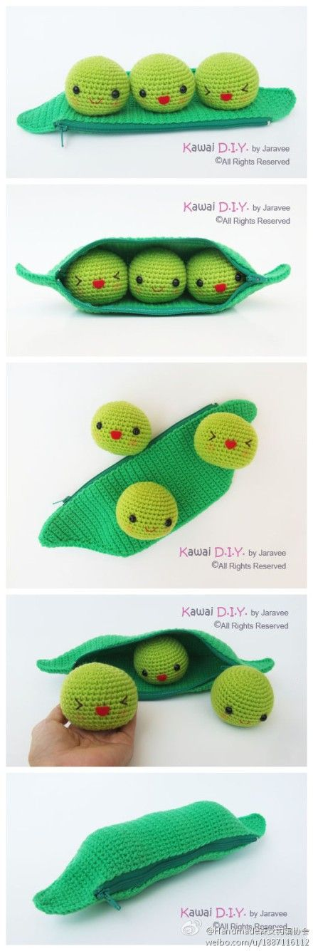 Kawaii diy Peas in a pod