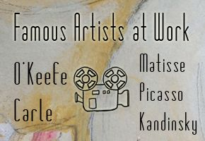 VIDEO FOOTAGE ::: Famous Artists at Work in their Art Studio 3 - at…