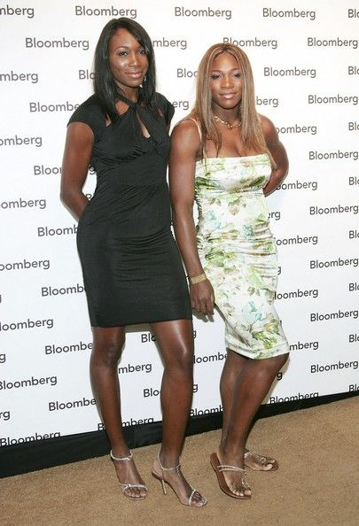Venus and Serena Williams at the Bloomberg News Hosts the Party Of The Year - 2005