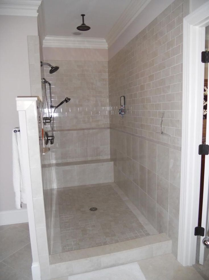 Best Shower No Doors Ideas On Pinterest Open Small Bathrooms - Tile shower designs without doors