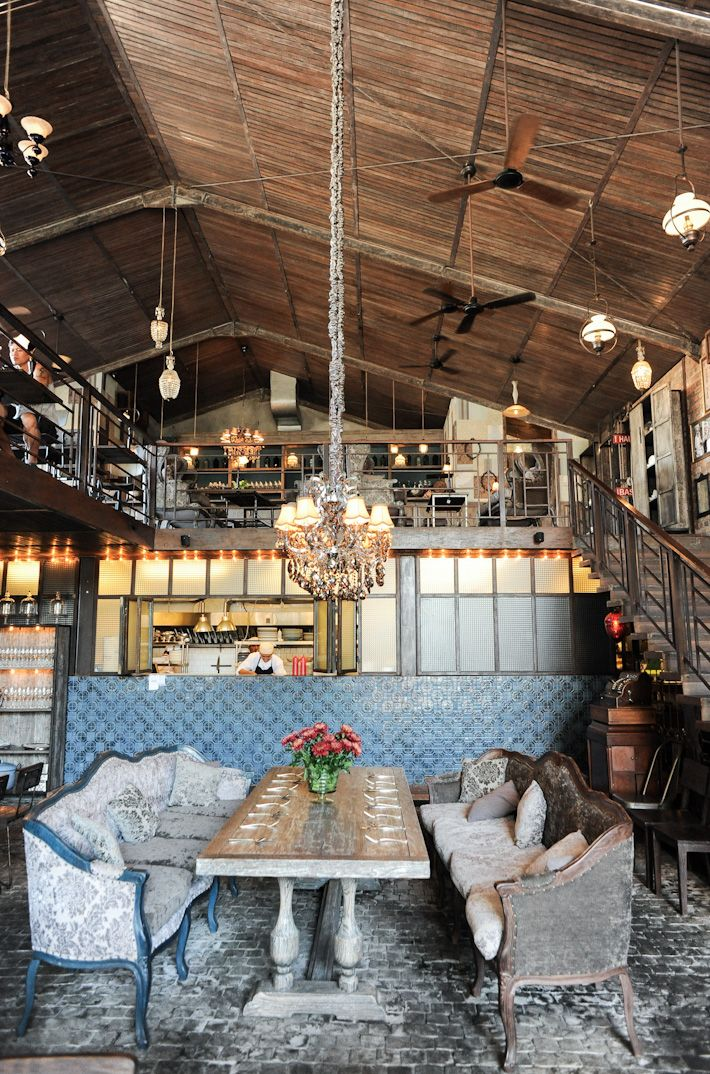 One of my favorite restaurants- The Bistrot, Seminyak, Bali, Indonesia. Unique menu and industrial chic decor.