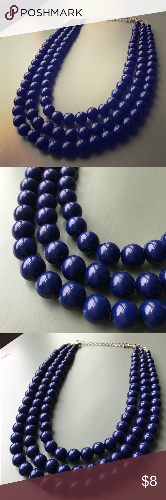 Layered navy blue pearl necklace Layered navy blue pearl necklace. 19.5 inches in length. Jewelry Necklaces