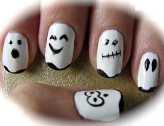 Halloween nails manicure DIY