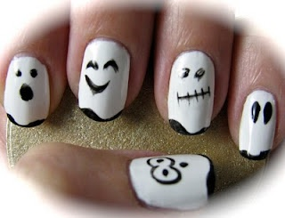 Halloween nails manicure DIY