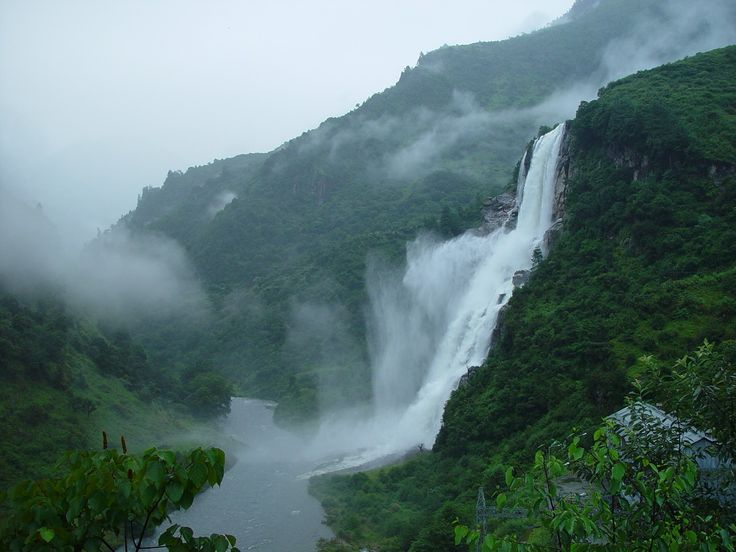 Nuranang Falls In The Tawang District Of Arunachal Pradesh India This Waterfall Is Named To