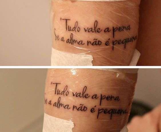 Clássica do Fernando Pessoa ♥ qual o tamanho da sua alma? - Reprodução