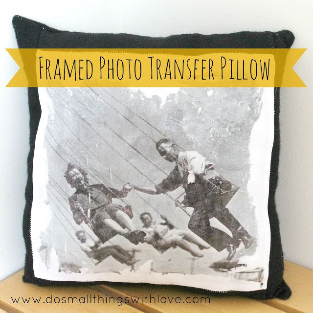 Small Things: Photo Transfer Pillow