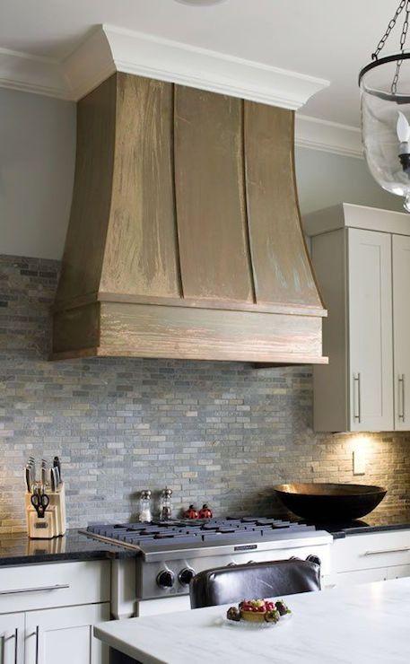 White Kitchen Cabinets With Marble Subway Backsplash