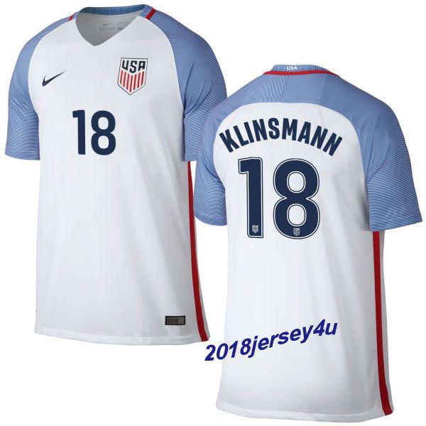 b8a7ad28a ... UEFA Euro 2016 Germany Home Jersey Jurgen Klinsmann 18 2016 COPA  America Centenario USA Mens Home Soccer Jersey ...