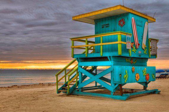 Fine Art Photography Large Print Lifesaver Hut Miami Beach