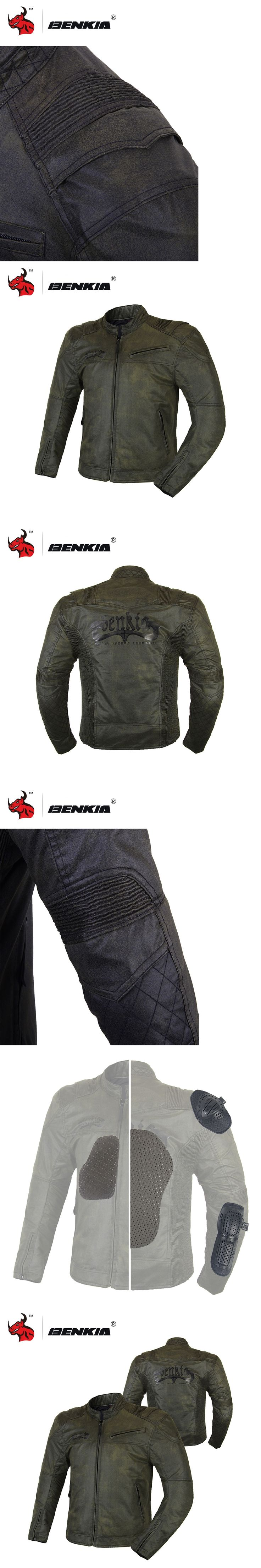 BENKIA Motorcycle Jackets Motocross Off-Road Racing Jacket Medieval Retro Style Moto Jacket Blouson Moto Summer Jacket Men