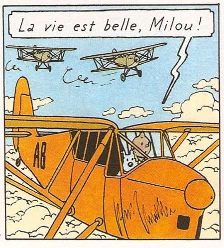 Illustration from Les cigares du Pharaon by Hergé. Copyright © 1955 by Casterman