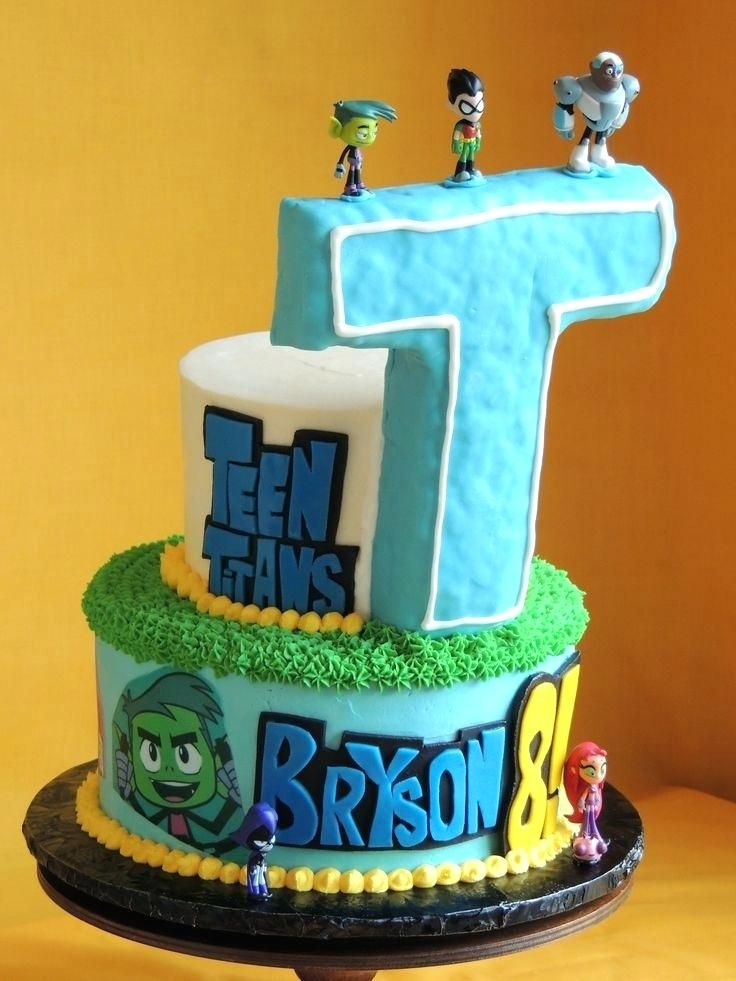 Kids Birthday Cakes San Diego Best Of Teen Titans Go Cake By Cutie Pie Decorating Ideas For Baby Shower