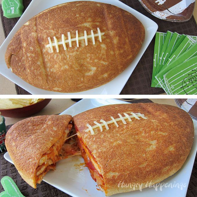 Feed a hungry crowd of football fans a Football Pizza Cake. Cut into the football to reveal layers of pizza crust, sauce, cheese and pepperoni.