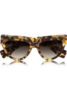Cat eye tortoiseshell acetate sunglasses by: Prada