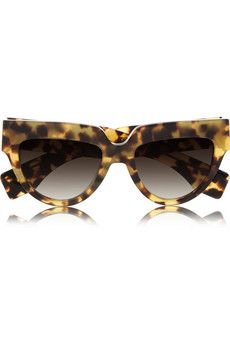 Cat eye tortoiseshell acetate sunglasses by: Prada