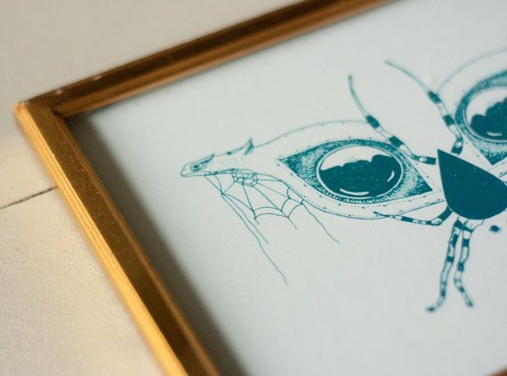 Spider dragon illustration by HerissonenPromenade on Etsy