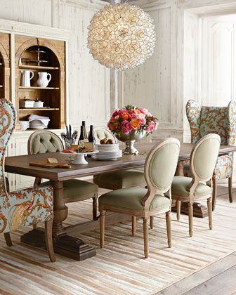 Traditional Yet Fun Dining RoomLove The Host Hostess ChairsEvelyn Table Blanchett Side Chair And Pheasant