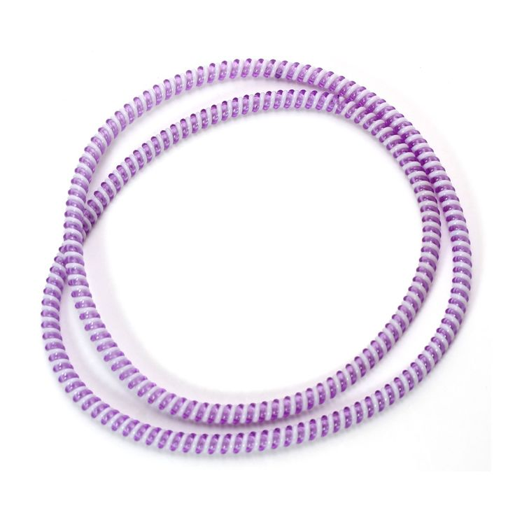 Spiral Cord Protector - 2-Tone White / Lavender