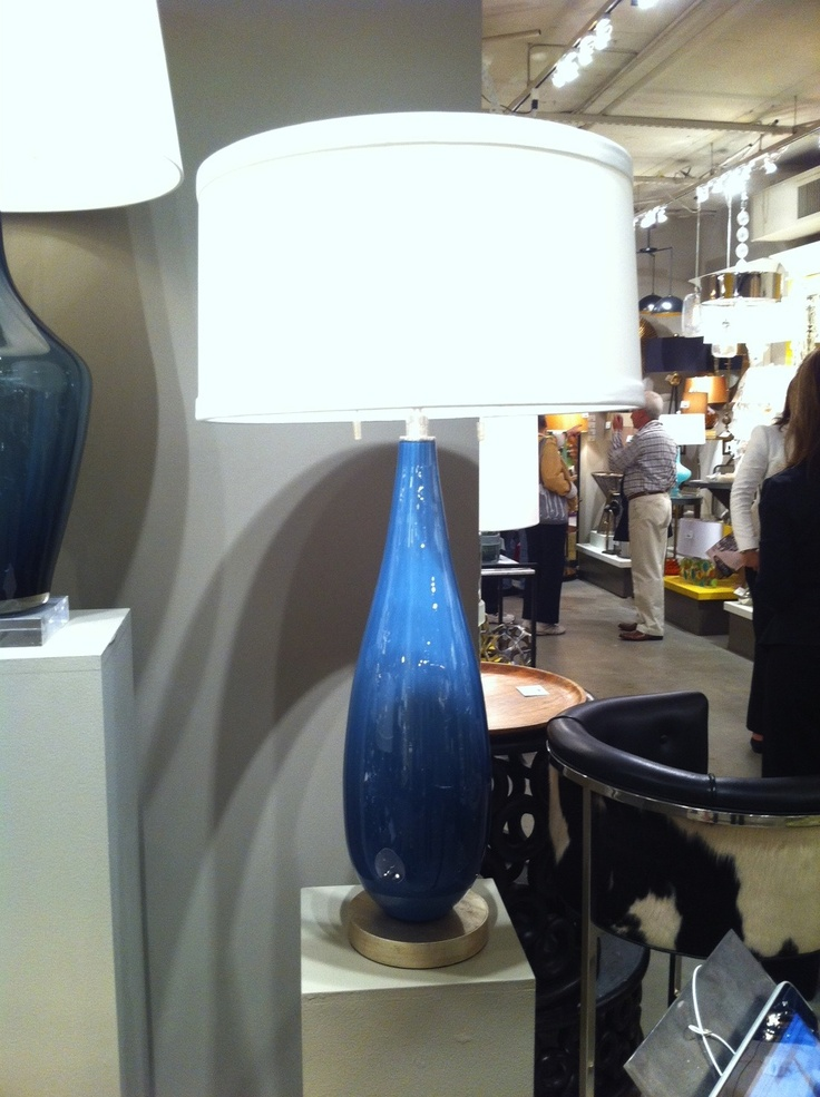 I love, love, love Mottega's new glass lamps.  The Verona base is so elegant, the scale is right, and the Laguna blue is on trend.   The glass is mouth-blown and you can see the subtle bubbles!   Arteriors Home (IHFC H320) #hpmkt  www.tracizeller.com: Mouth Blown, Traci Zeller