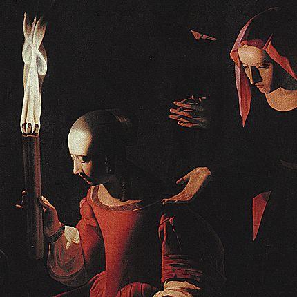 Saint Sébastien soigné par Irène, vers 1649, Georges de la Tour, (Paris, Musée du Louvre)