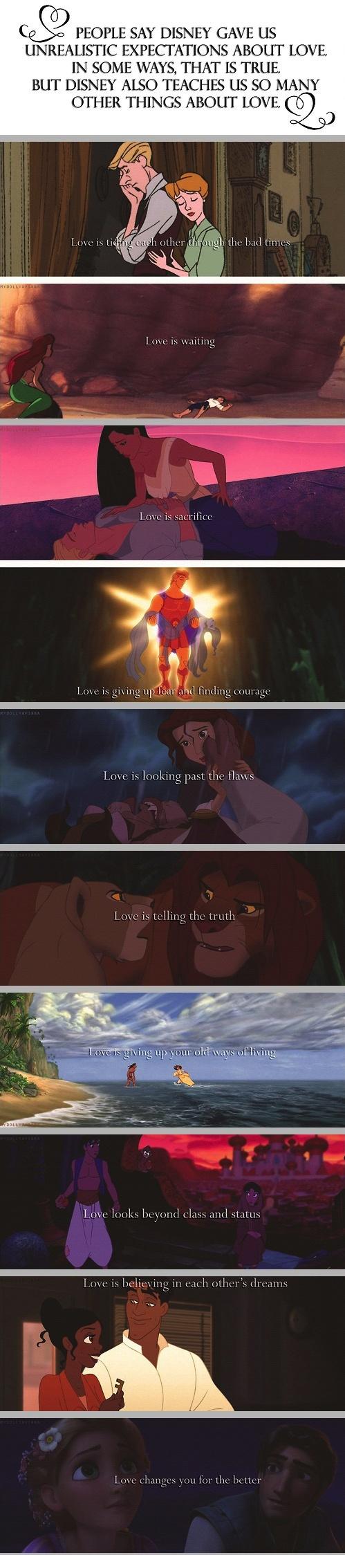 Disney couples teach us  about love
