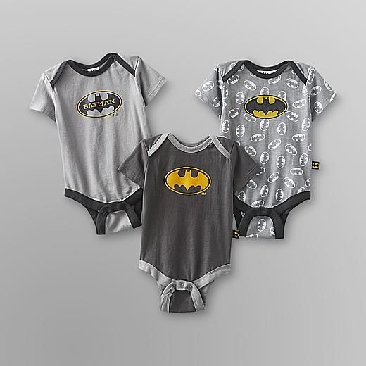 DC Comics Batman Infant Boy's Bodysuit - 3-Pack