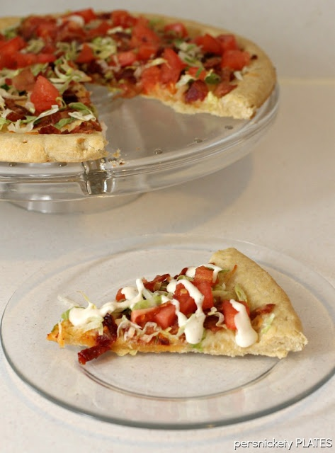 Persnickety Plates: BLT Pizza #pizza