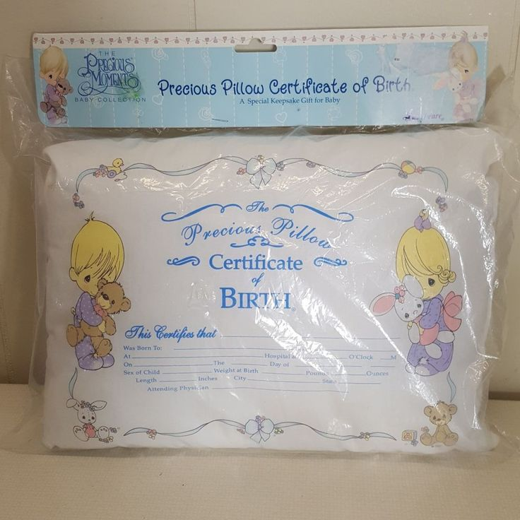 Request For Birth Certificate Letter%0A Precious Moments Pillow Certificate of Birth Baby Gift Keepsake