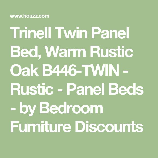 Trinell Twin Panel Bed, Warm Rustic Oak B446-TWIN - Rustic - Panel Beds - by Bedroom Furniture Discounts