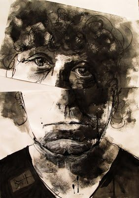 Harry Kent - Brett Whiteley opens up  (ink and charcoal)