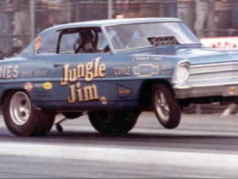 Jungle Jim and Jungle Pam. Setting the world on fire in the 70's. A true showman and drag racer.