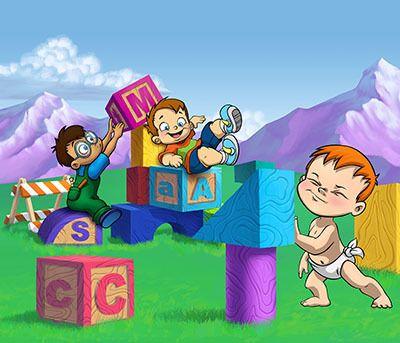 Wacky World Studios - Baby Builders Wall Mural, $480.00 (http://themes-to-go.com/baby-builders-wall-mural/)