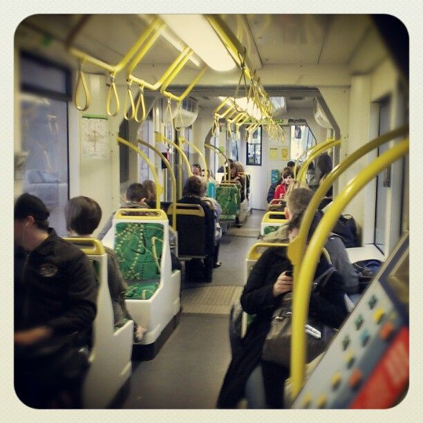 On the tram to #pbevent