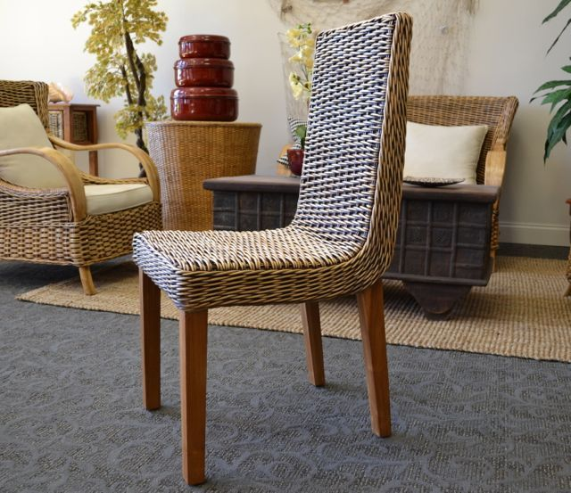 17 best images about wicker rattan natural on for Modern wicker dining chairs