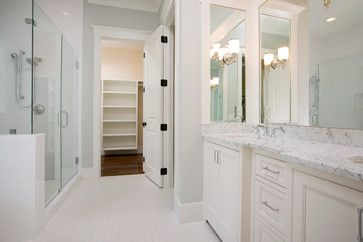 Sherwin Williams paint color- Sea Salt. The Jekyll - Traditional - Bathroom - Charleston - Shoreline Construction and Development