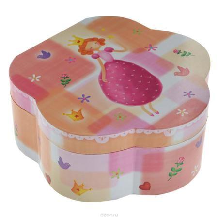 """Музыкальная шкатулка в форме цветка """"Принцесса""""  — 1382р. ------ Чудесная музыкальная шкатулка """"Принцесса"""" станет великолепным подарком для вашей маленькой красавицы, а ее сказочный мотив создаст поистине волшебное настроение. Малышка сможет хранить там мелкие вещи и свои секреты. Выполненная из дерева в форме цветка с глянцевым бумажным покрытием, шкатулка оформлена красочными изображениями цветов, птичек, сердечек и великолепной девочки-принцессы. Внутри шкатулки одно отделение с двумя…"""