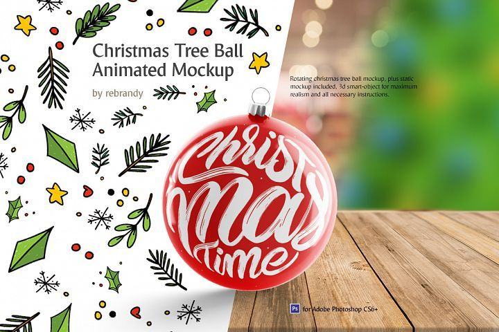 Christmas Tree Ball Animated Mockup 159207 Seasonal Design Bundles Design Mockup Free Psd Template Free Free Psd Design