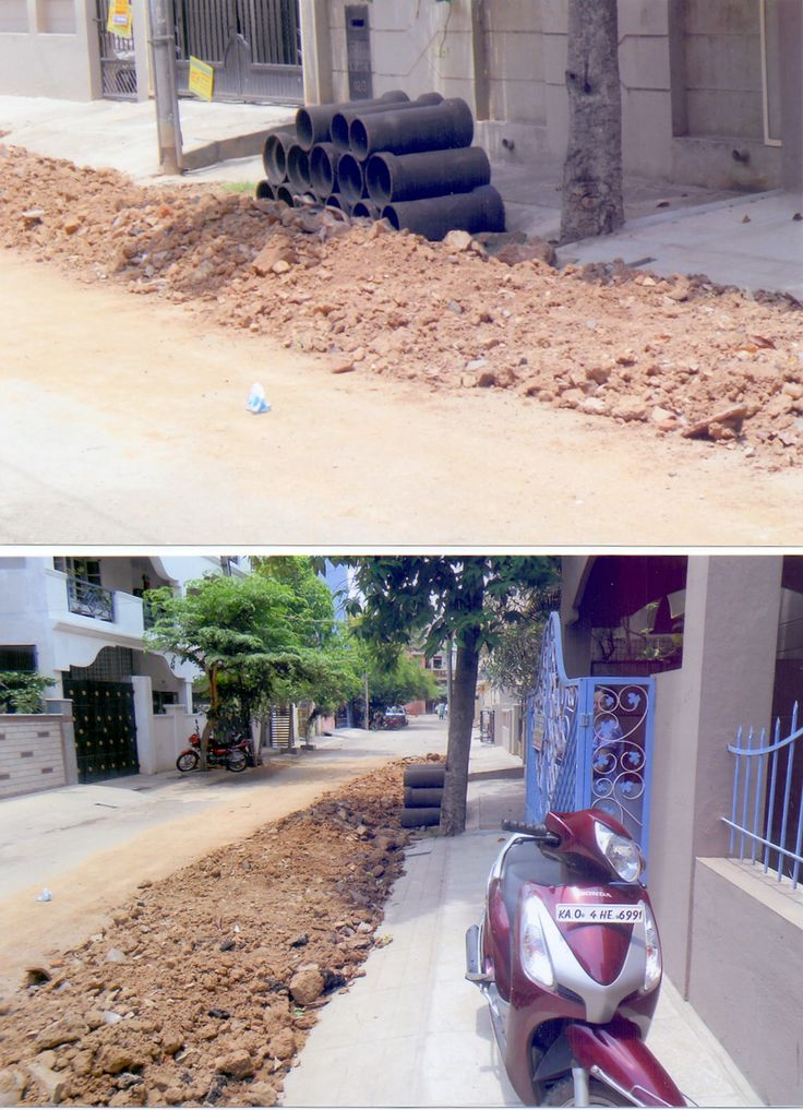 """#Bangalore #Mathikere """"The road in front of our residences (at HMT Layout, Mathikere) has been damaged due to replacement of drainage pipes. The dug up mud and the broken pipes have been dumped right in front of our residence. During monsoon, the entire area will become slushy and slippery posing danger to children and senior citizens."""" - Balaji. Click on the link to VOTE UP Balaji's complaint to get the issue resolved faster: http://bit.ly/1k2UkBm"""