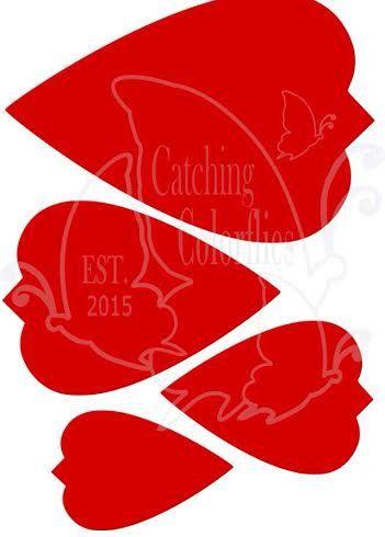 Gran papel flor plantillas de corte de por CatchingColorFlies