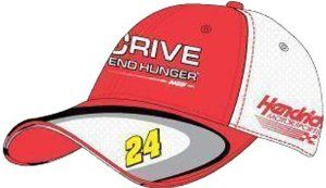 Jeff Gordon CFS NASCAR Spring 2012 Drive To End Hunger Old School Hat by RacingGifts. $26.50. These premium quality nascar hats are made from the finest materials, with sturdy construction that will last for years to come. The impressive graphics are second to none too. Whether you're buying one for yourself or as a gift, one of these hats will become a favorite in any racing fan's collection. Adjustable to fit most any size head, you can't go wrong with one of...