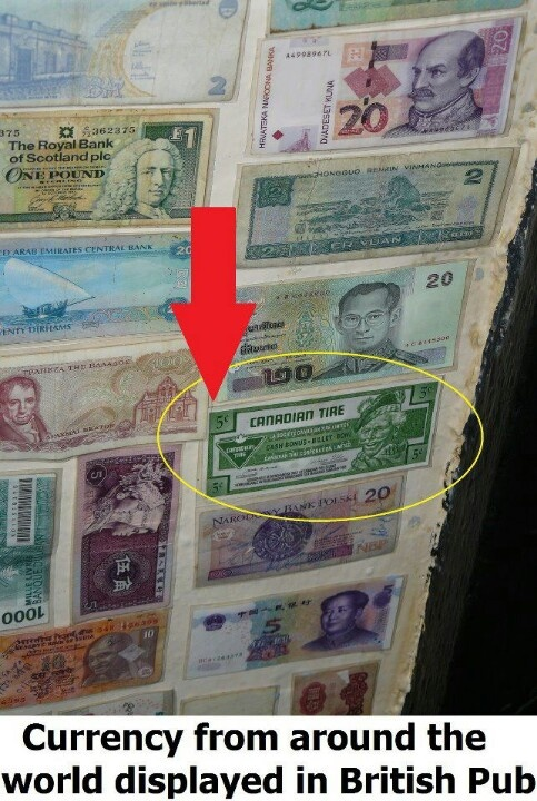 All Canadians have vast collections of Canadian Tire money, even if they never shop at Canadian Tire. But of course everybody shops at Canadian Tire.