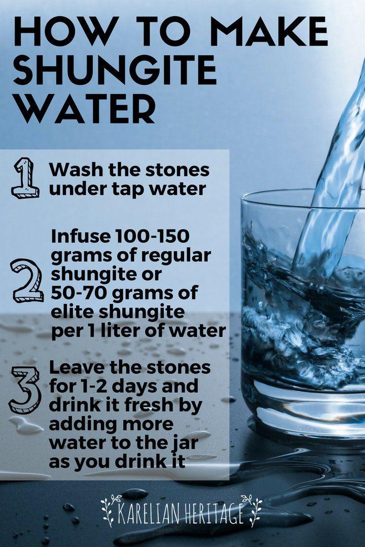 Use authentic shungite stones for shungite detox water