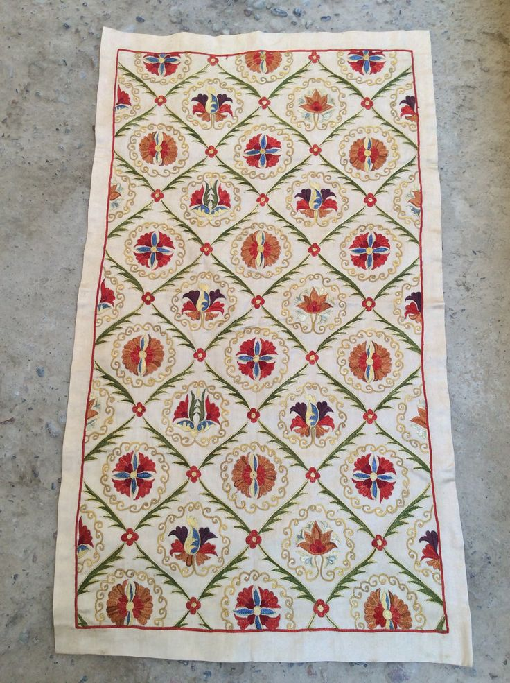Pure silk embroidery on silk&cotton foundation,natural colors,totally hand made 80cmx46cm