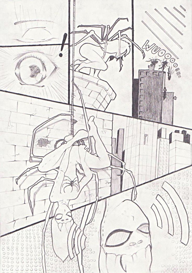 """Spider Women Comic Strip By Dean Hendricks based of  the New Zealand """"katipo"""" spider"""