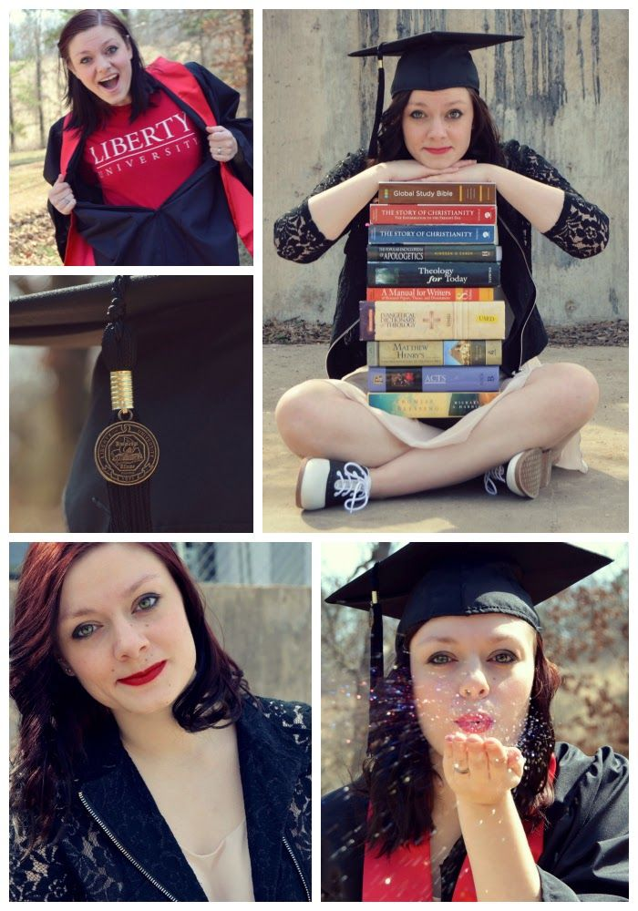 graduation pictures. love the blowing glitter and books!