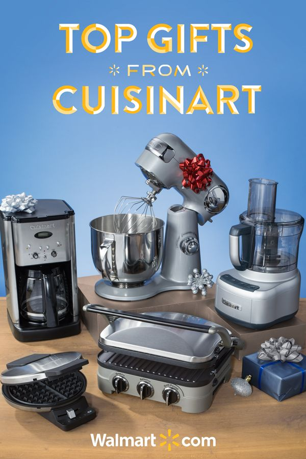 Find the perfect gift for all those foodies in your life with these must-have Cuisinart products from Walmart.  Featuring everything from Stand Mixers to Food Processors - it's the perfect choice to make their kitchen dreams come true! Shop today.  Top Gifts from Cuisinart Include: Cuisinart Stand Mixer, Food Processor, Coffee Maker, Griddler and Waffle Maker.